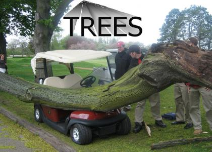 Golfcarts have one weakness...