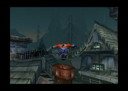 Mario enters the World of Warcraft