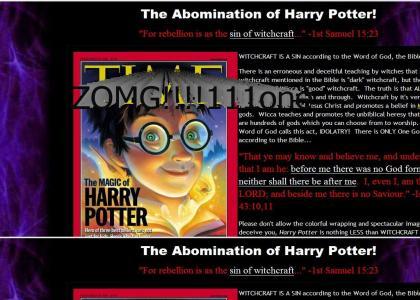 Harry Potter = t3h EVIL!!!1