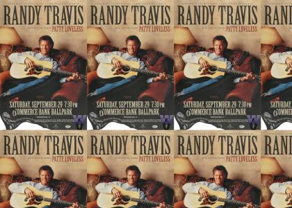 WHO WRINKLED MY RANDY TRAVIS POSTER!