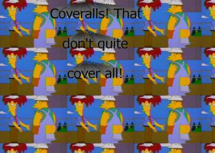 Coveralls that don't quite coverall! (The Simpsons)
