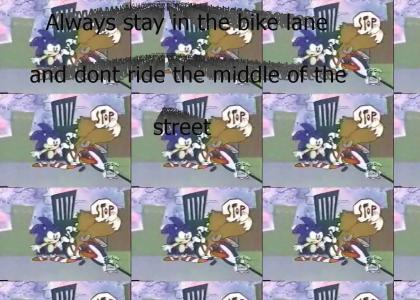 Sonic gives Tails advice on the bicycle safety (AoStH)