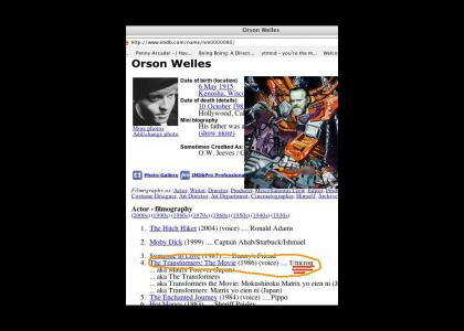 Orson Welles is UNICRON?!