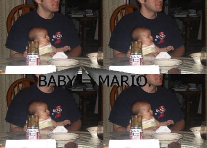 Baby equals Mario.
