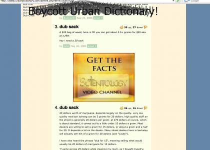 Scientology strikes again: Urban Dictionary