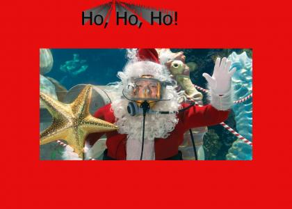 Santa makes an underwater appearance