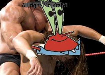 Mr. Krabs becomes a professional wrestler