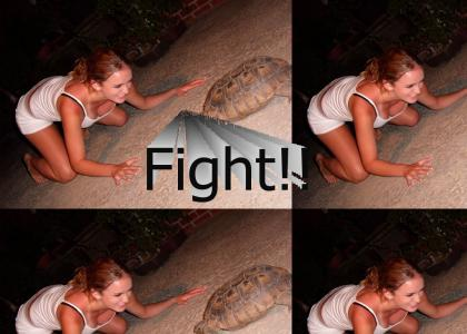 Girl Versus Turtle