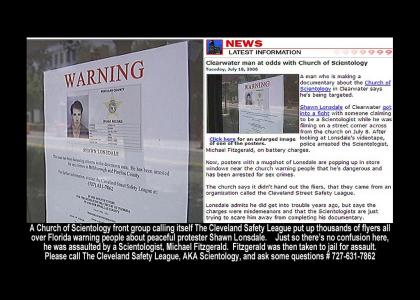 Scientology Front Group flyers Florida with lies