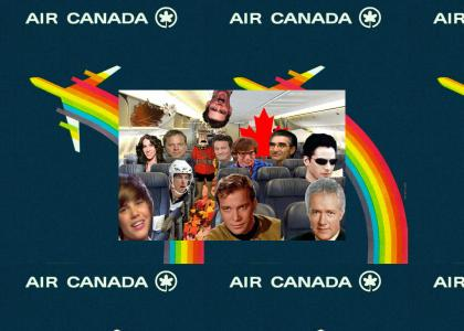 A typical air canada flight