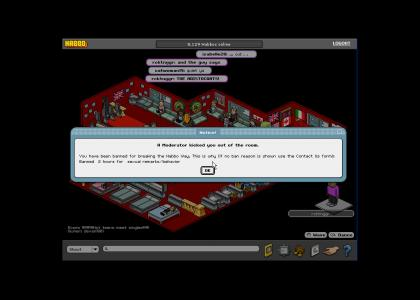 Habbo mod waited for punchline before ban.