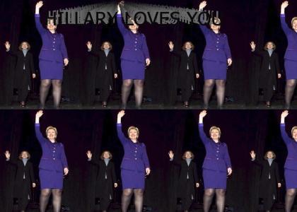 Hillary Clinton in purple