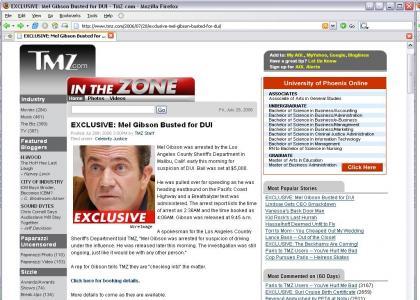 Mel Gibson - DUI