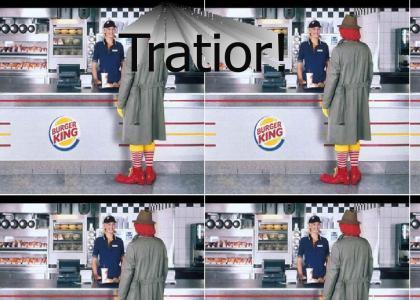 Ronald McDonald at Burger King?!