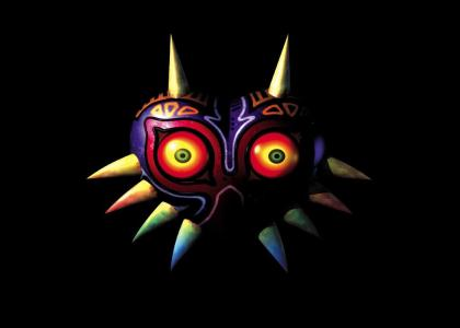 Majora's Mask Stares into your soul.