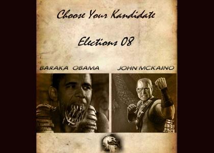 Choose Your Kandidate.  Obama McCain Mortal Kombat