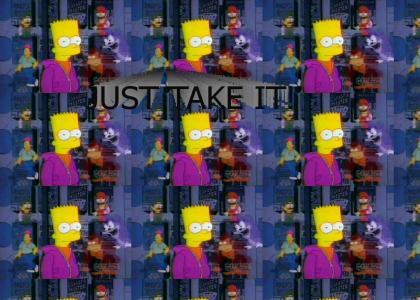 Video games advise Bart Simpson