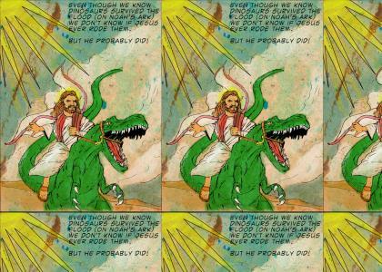 Jesus Raptor Ridin'