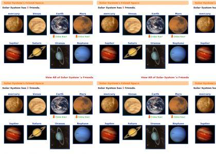 Solar System's MySpace