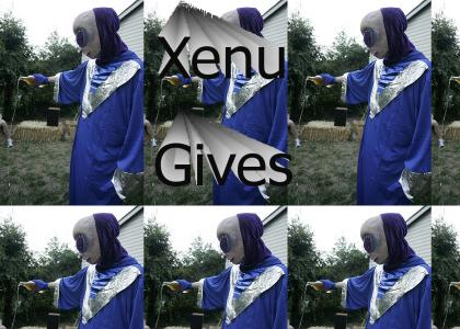 Xenu gives to his Thetans