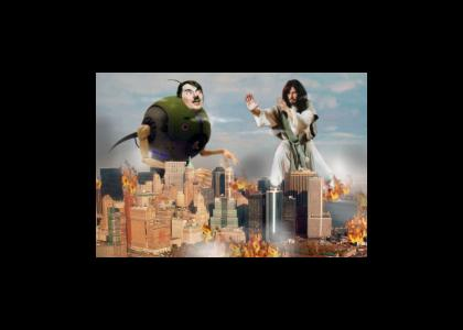 Jesus vs Robot-Hitler