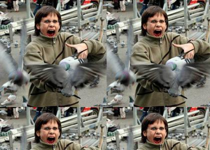scared bird lady belts out a facemelter.....