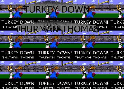 TOUCHDOWN THURMAN THOMAS THANKSGIVING