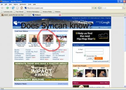 Myspace Homepage Epic Steal Maneuver?