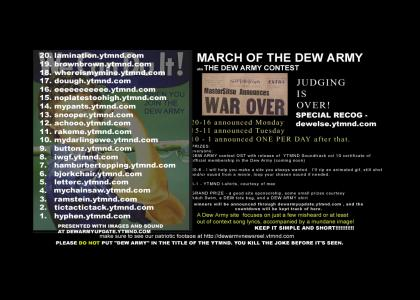 March of THE DEW ARMY - COUNTDOWN & INFO