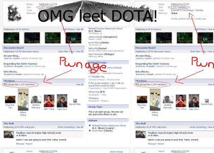DOTA has leet players