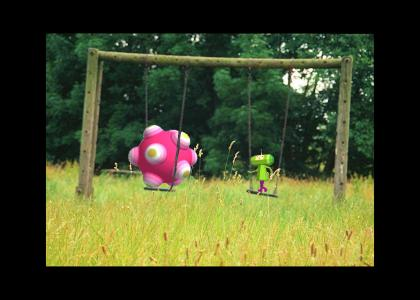 Katamari on the Swing