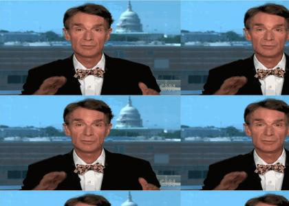 Bill Nye Sucks up the oil from the Gulf of Mexico