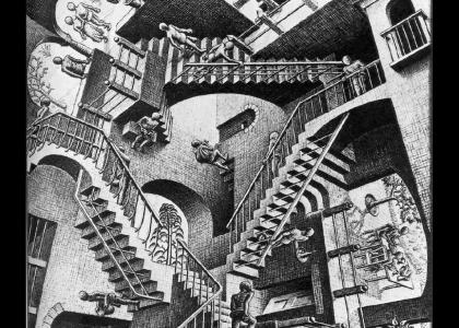 Olmec explains mc escher's art