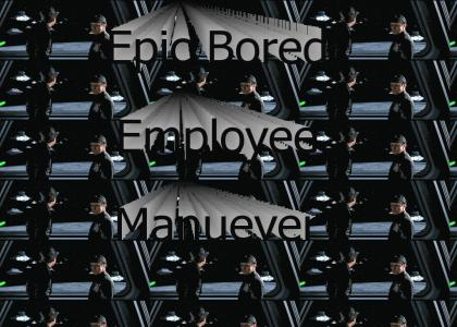 Epic Bored Employee Manuever.