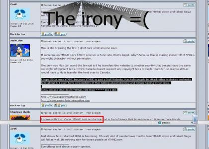 lol, sega forums (=( irony)