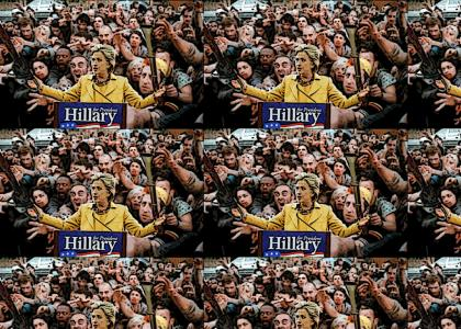 Hillary holds another rally