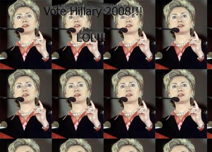 What're you talking about?!? Hillary Clinton is a hottie!!
