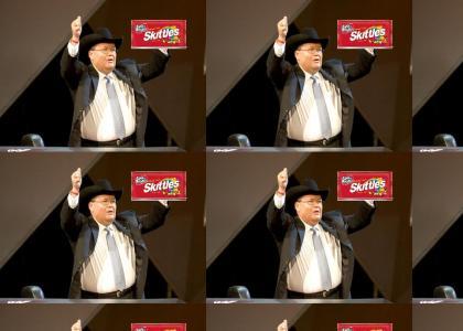 JR Loves Skittles, Bah Gawd!