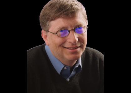 Bill Gates Stares At Blue Screens Soul