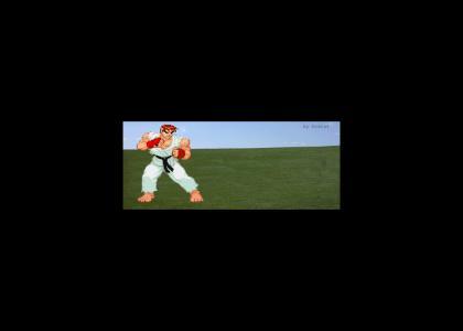 Ryu kills a Battle Droid
