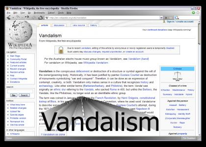 Wikipedia Vandalism article has One Weakness...
