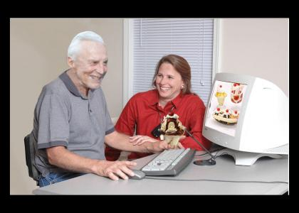photoshop old man sundaes