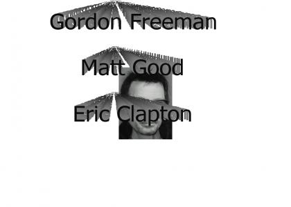 Gordon, Matt and Eric have the same facial expression