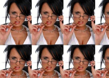 Chicks in glasses