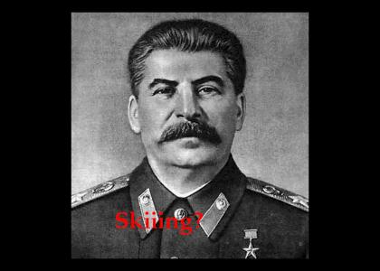Stalin has a wonderful time skiiing!?