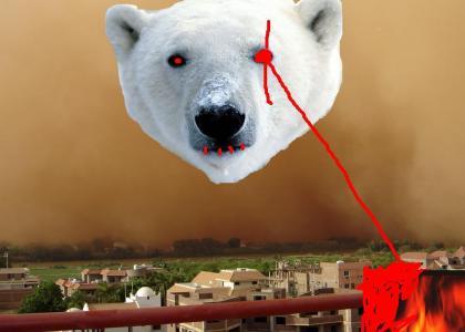 Evil Polar Bear In A Sandstorm