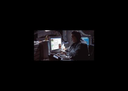 Nedry hacks Dodgson's webpage
