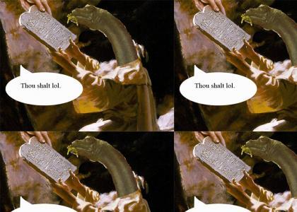 Brontosaurus Moses! Before Raptor Jesus!