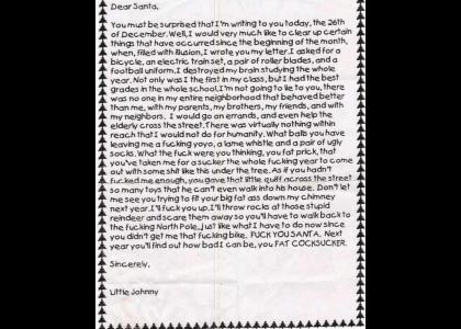 Jolly letter to Saint Nick