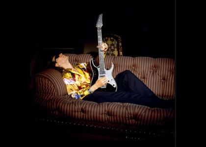 Steve Vai gets an erection!